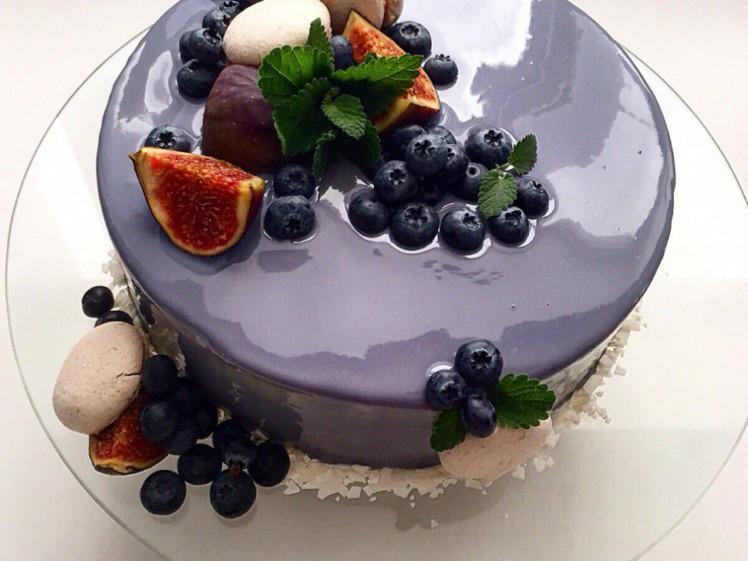 Муссовый торт с зеркальной глазурью рецепт фото